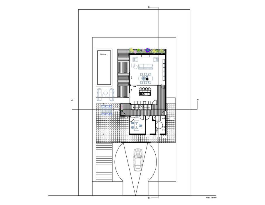 Planta - Piso 0:   por Nuno Ladeiro, Arquitetura e Design