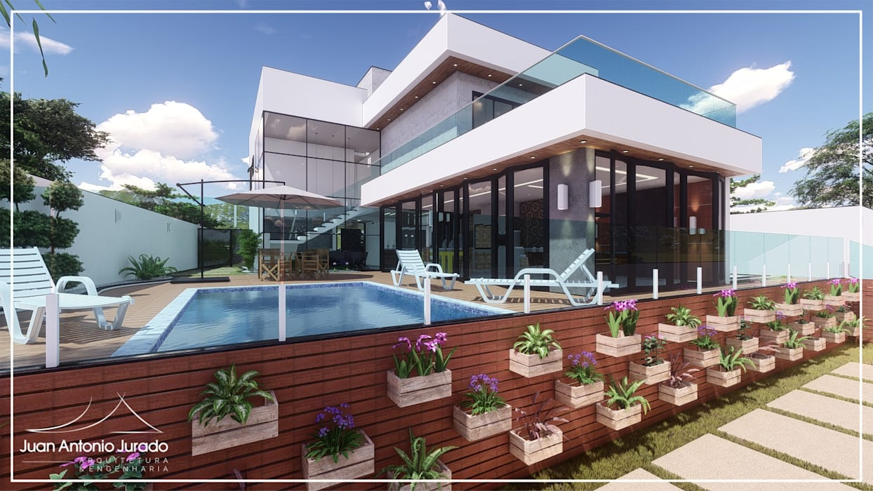 Kolam renang halaman oleh Juan Jurado Arquitetura & Engenharia, Modern Beton