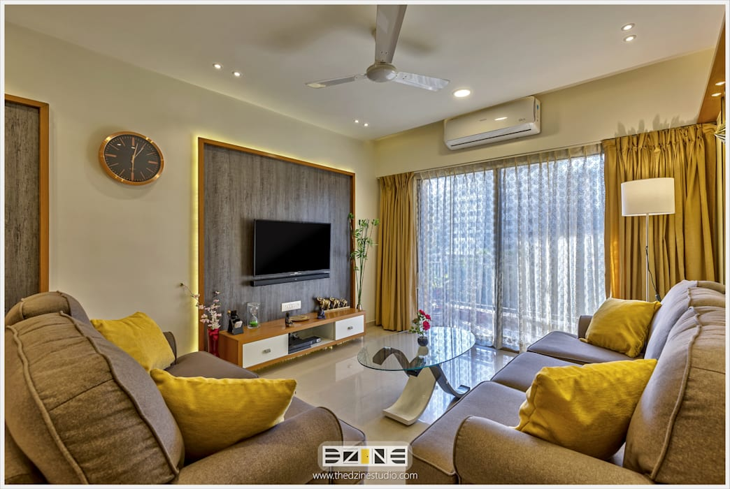 2BHK apartment in Pune The D'zine Studio Living roomTV stands & cabinets