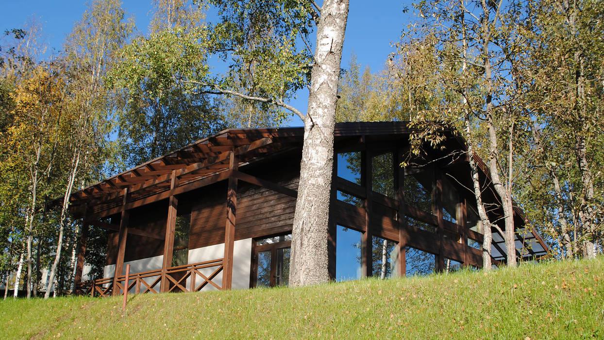 Wooden houses by NORD PLAN, Scandinavian Glass