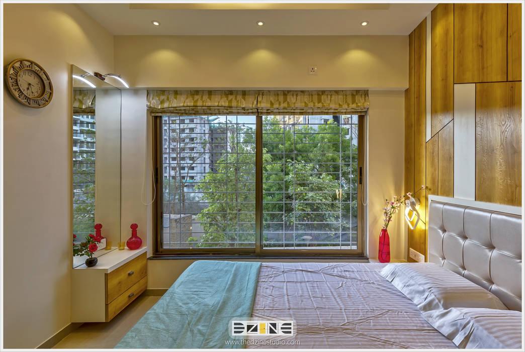 2BHK apartment in Pune :  Bedroom by The D'zine Studio