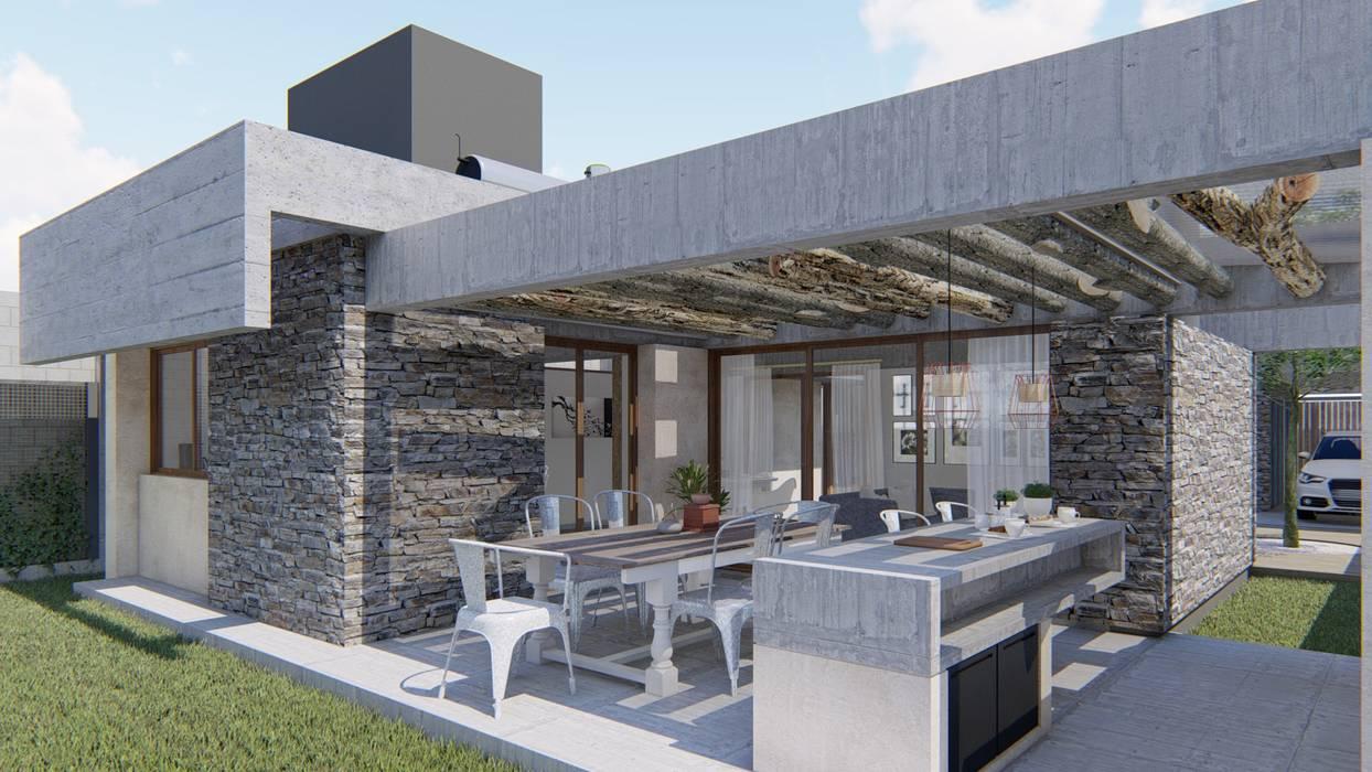 Rumah pasif oleh ARBOL Arquitectos , Rustic