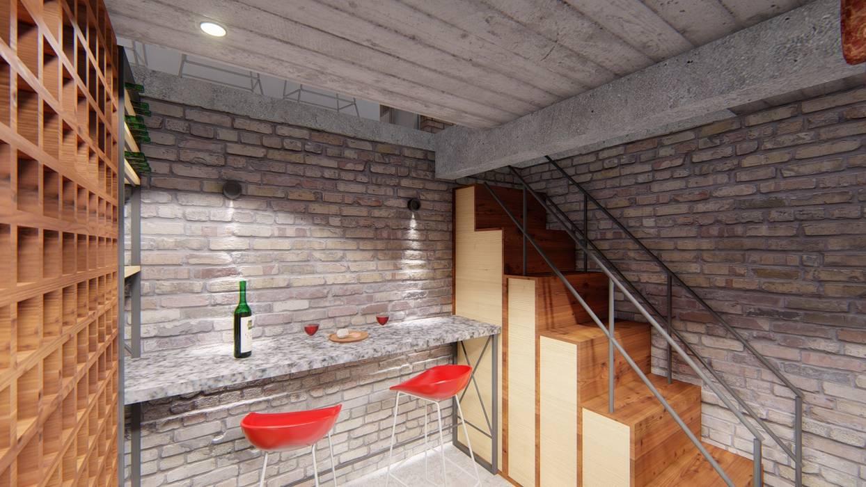 CASA HD Bodegas rústicas de ARBOL Arquitectos Rústico