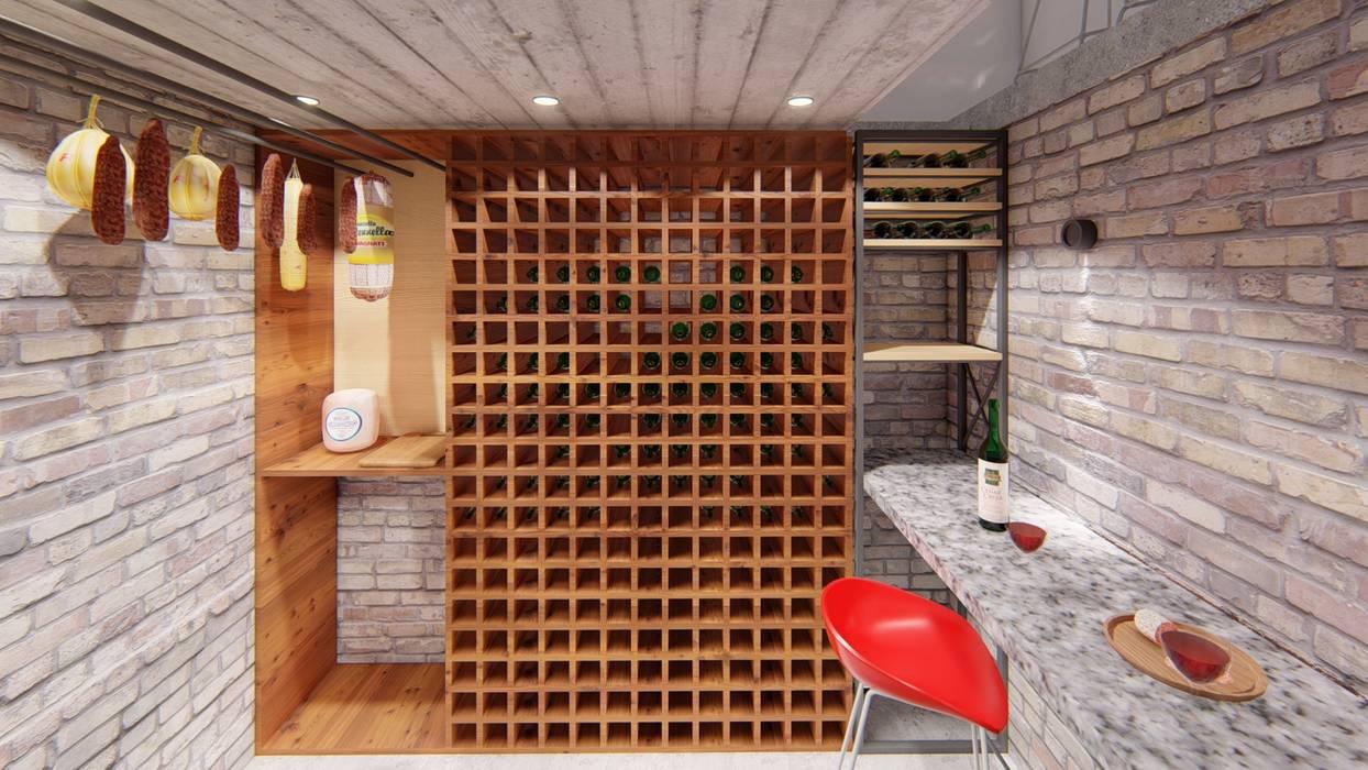 CASA HD: Bodegas de estilo  por ARBOL Arquitectos ,Rústico