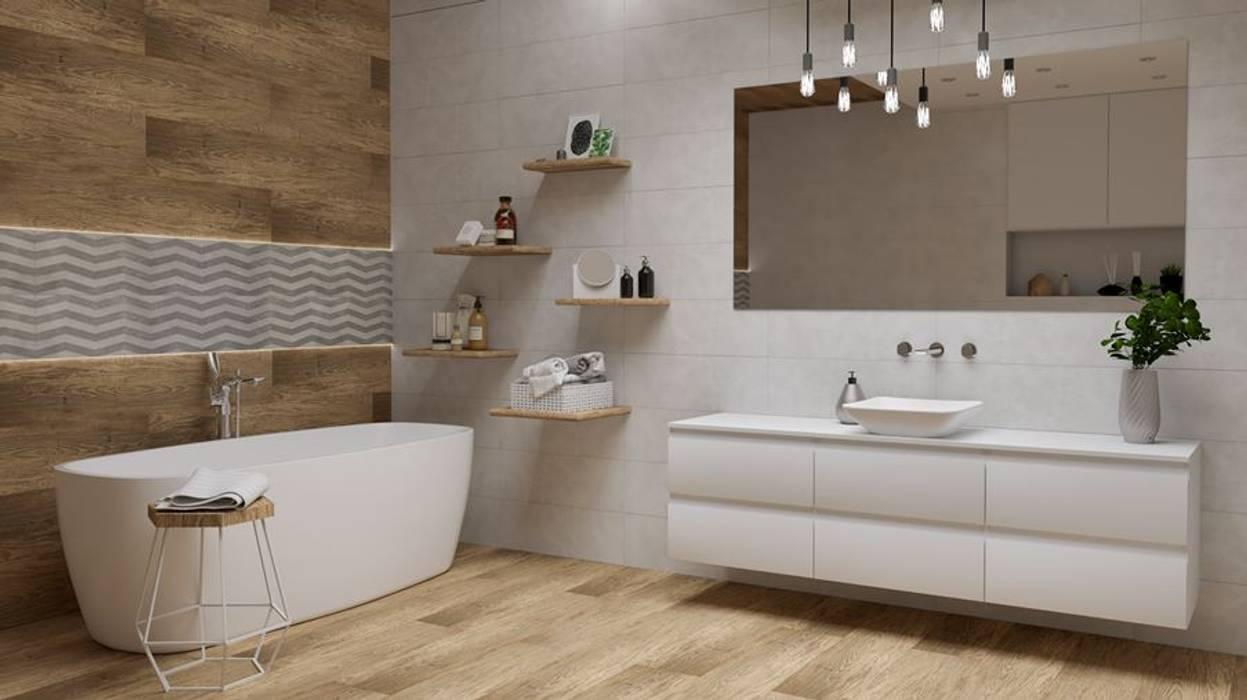 Aranżacja łazienki W Bieli I W Brązie Styl W Kategorii