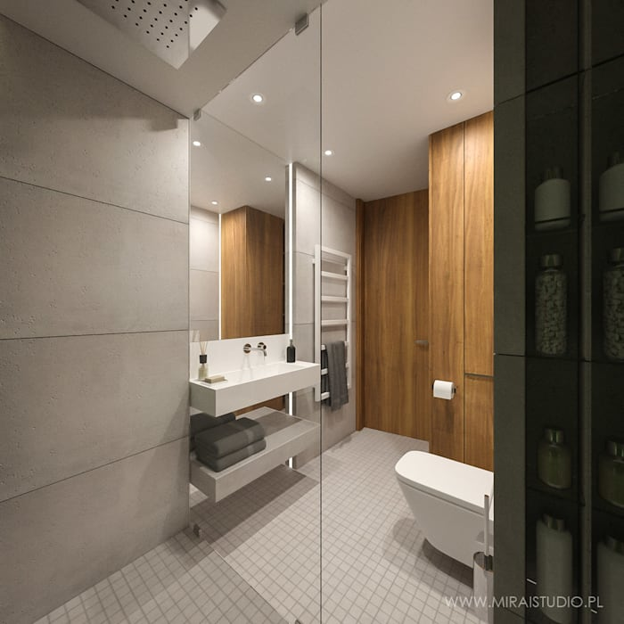 MIRAI STUDIO Kamar Mandi Modern Beton Grey