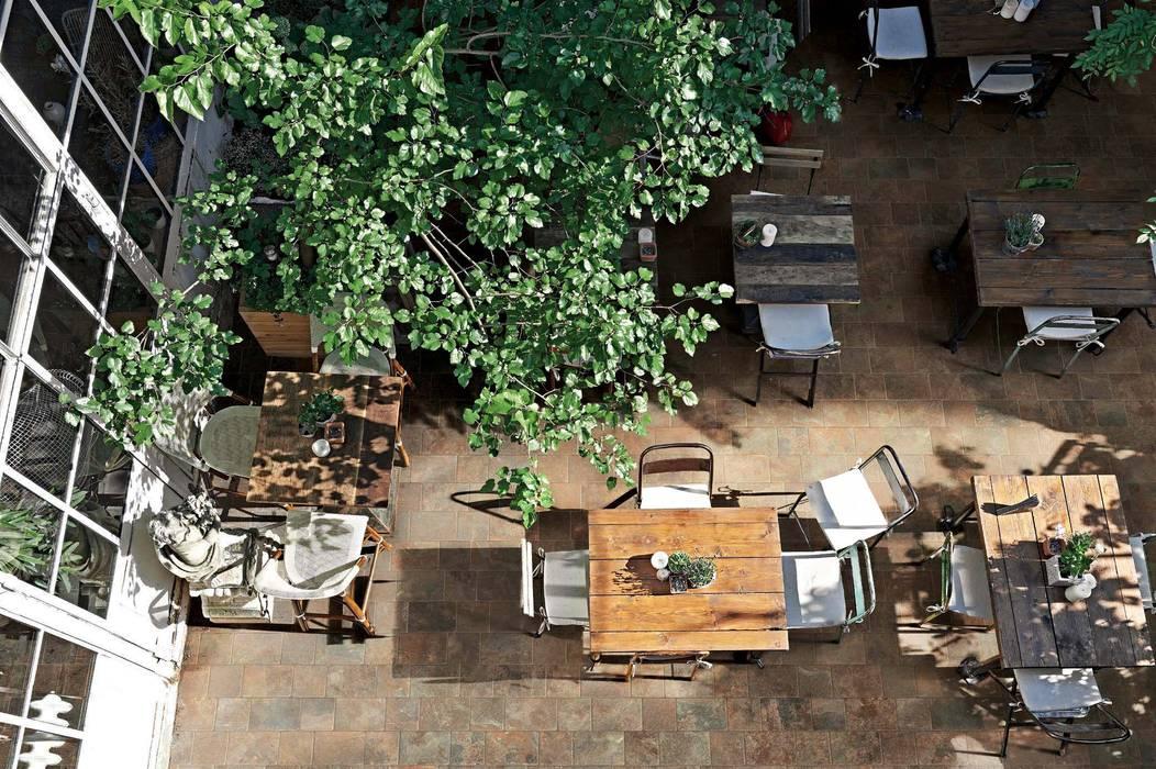 Plaza Yapı Malzemeleri – Bahçe & Restaurant seramik:  tarz Ön avlu, Rustik Seramik