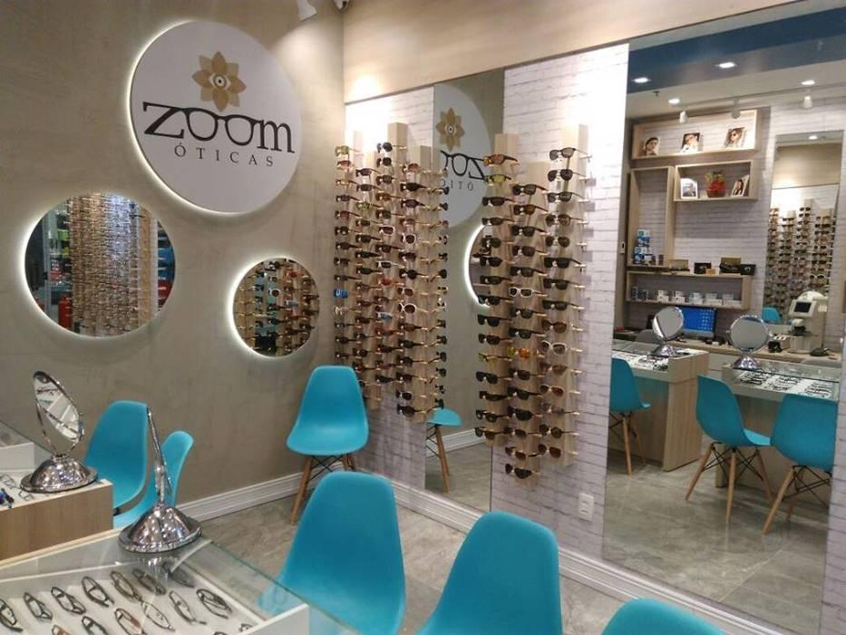 Izabella Biancardine Interiores Offices & stores Turquoise