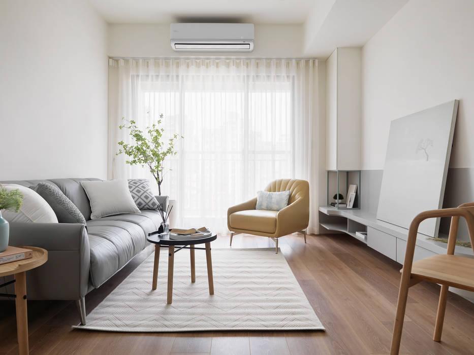 香草:  客廳 by 寓子設計, 北歐風