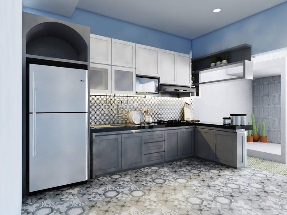 kitchen set bu yanda Oleh viku Skandinavia Kayu Wood effect