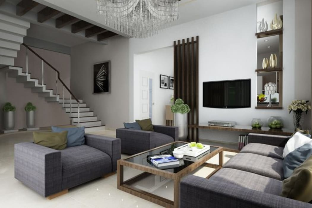 Mẫu biệt thự đẹp 2 tầng ở Bạc Liêu:  Biệt thự by Công ty TNHH Thiết Kế Xây Dựng Song Gia Phát, Hiện đại