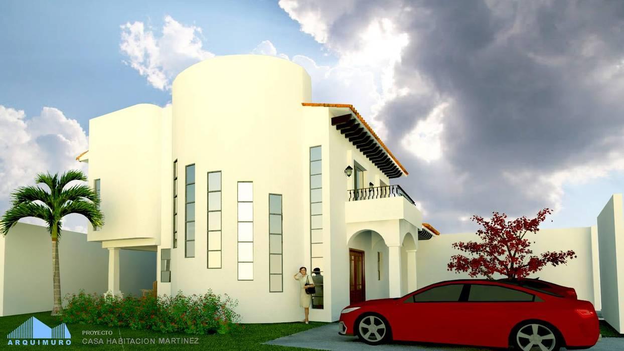 Casa Martinez: Casas unifamiliares de estilo  por Arquimuro Arquitectos,