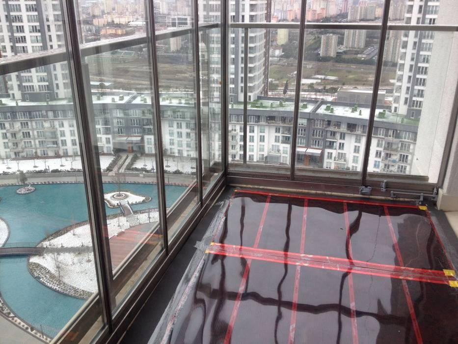 Karbonik ısıtma sistemleri – Kapalı balkon ısıtma sistemi:  tarz Balkon,
