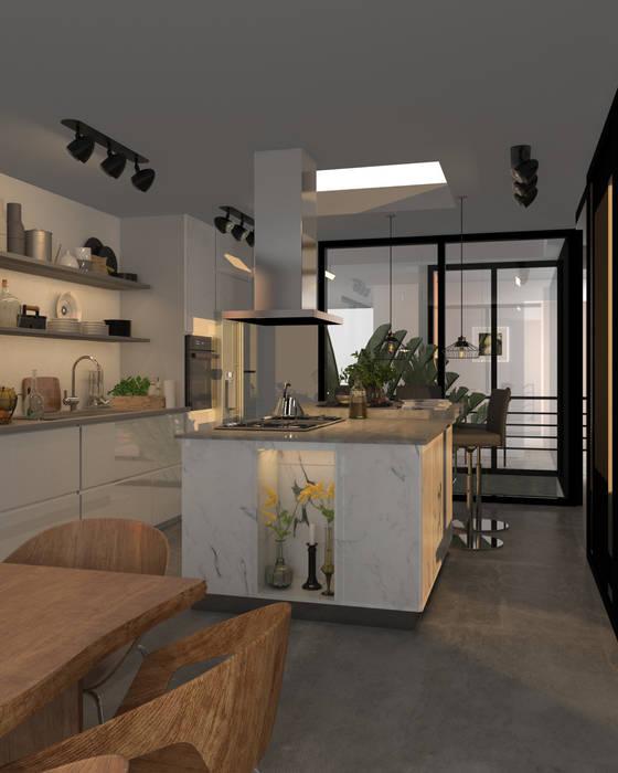Render Cocina de Arquitectura y Visualización