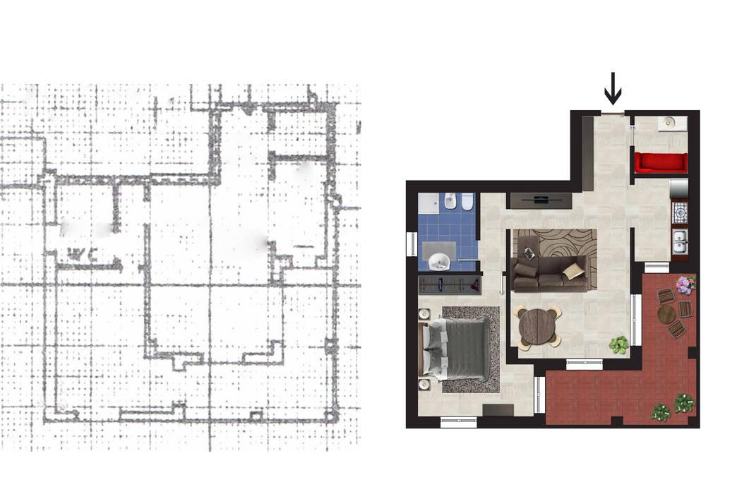 Moderne Häuser von Planimetrie Realistiche Modern