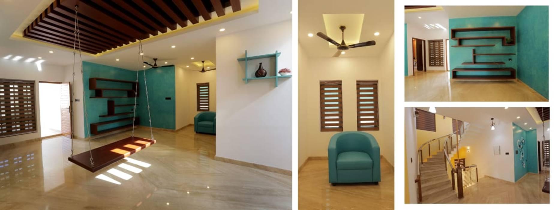 Villa Project in Ambalamukku:  Corridor & hallway by Paramount Construction & Decor,Asian