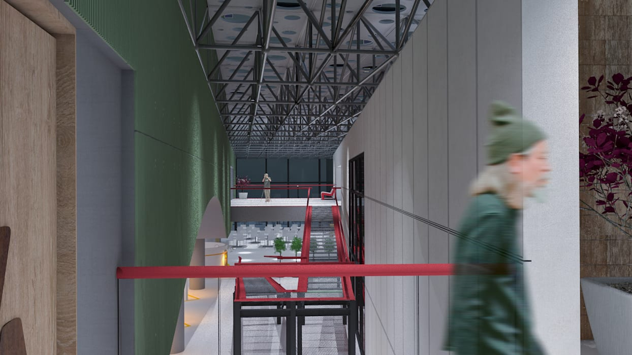 Panorámica desde Auditorio de noche Estudios y oficinas modernos de DUSINSKY S.A. Moderno