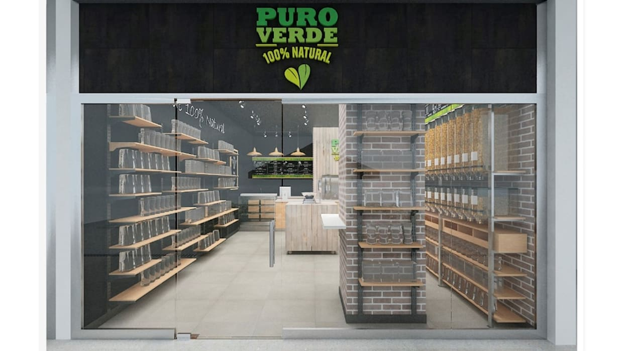 AUTANA estudio Rustic style offices & stores Wood Wood effect