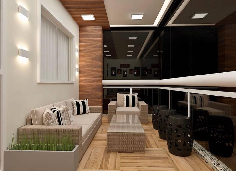 Balcón de estilo  de CaPra Arquitetura e Interiores, Moderno