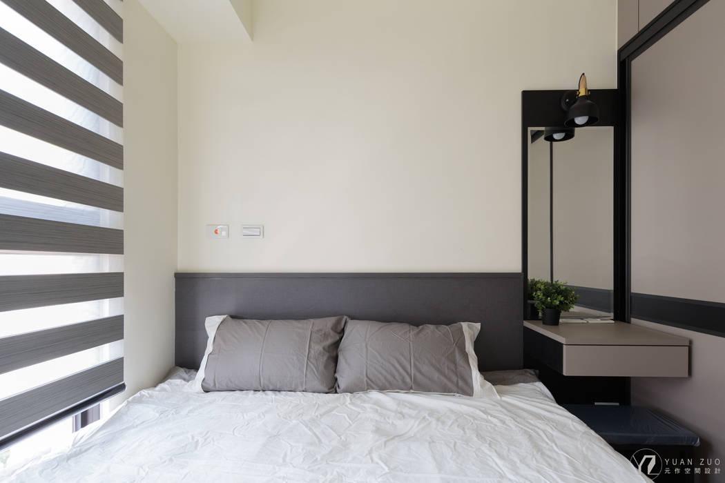 床頭:  牆面 by 元作空間設計, 現代風