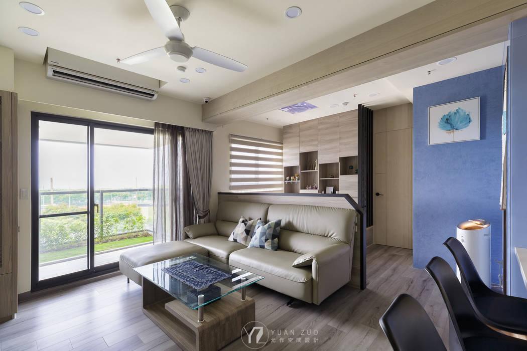 客廳:  客廳 by 元作空間設計, 現代風