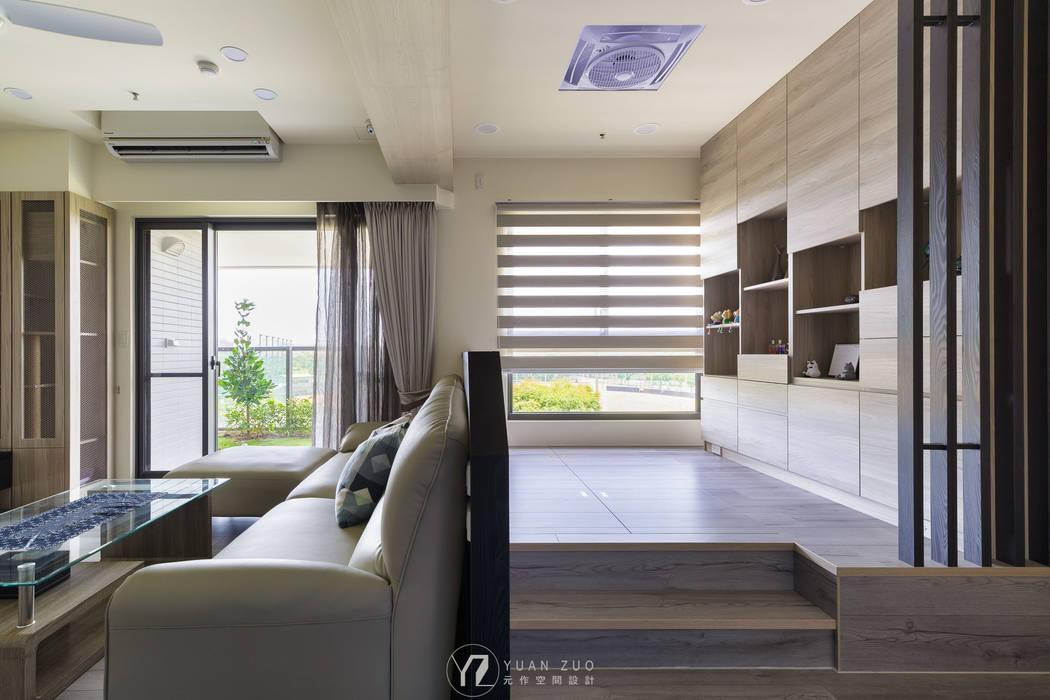 架高和室:  書房/辦公室 by 元作空間設計, 現代風