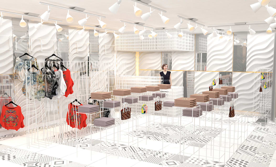 Malaysia - Fashion Shop Interior Design توسط Yunhee Choe مدرن کاشی