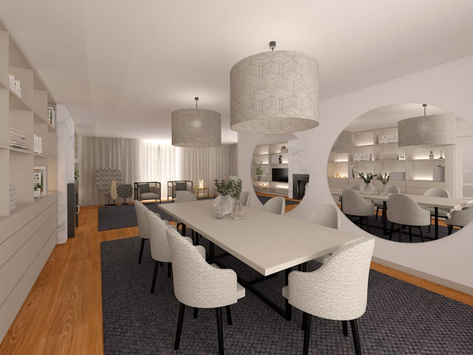 MIA arquitetos Sala da pranzo moderna