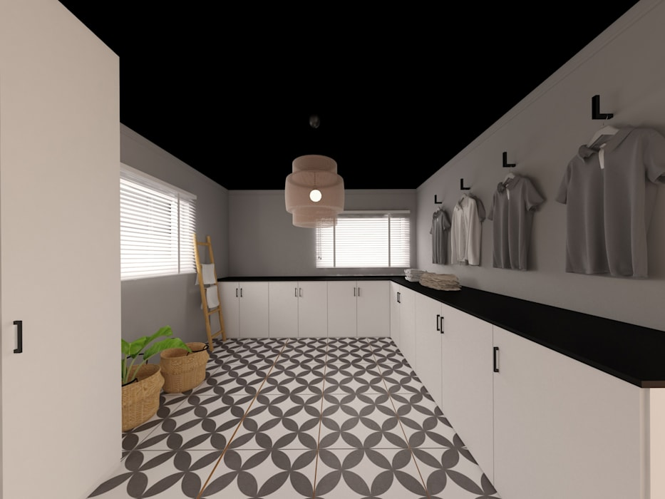 MIA arquitetos Garage/Rimessa in stile moderno