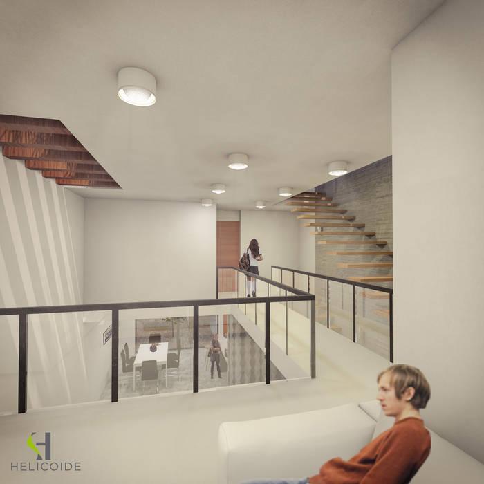モダンデザインの 多目的室 の Helicoide Estudio de Arquitectura モダン
