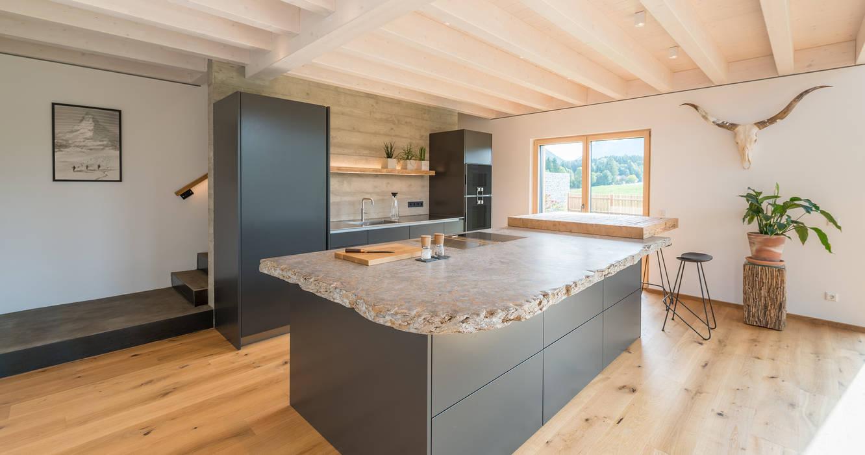 Modern kitchen by Bau-Fritz GmbH & Co. KG Modern