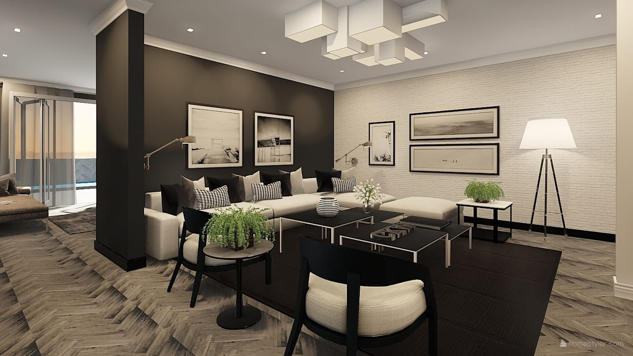 Sandton Penthouse Interior Design & Architecture:  Living room by CKW Lifestyle Associates PTY Ltd
