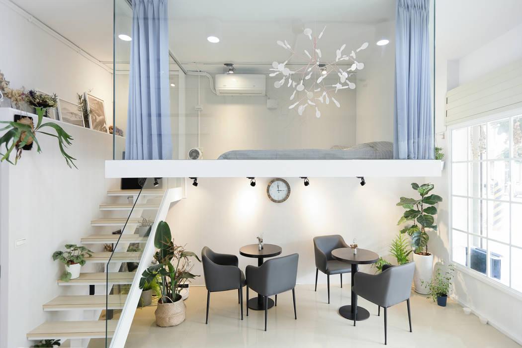 休息區:  商業空間 by 恆星商業有限公司, 簡約風 磁磚