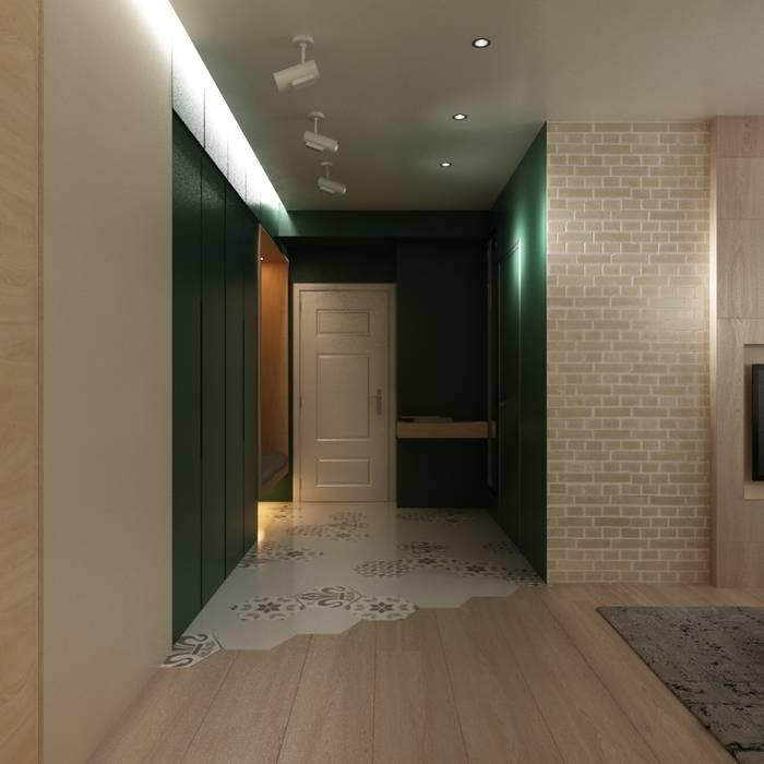 Проект 3-х комнатной квартиры в духе лофт: Коридор и прихожая в . Автор – ARTWAY центр профессиональных дизайнеров и строителей, Лофт