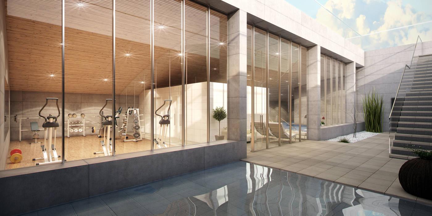 Modern houses by Infografias 3D y Renders 3D Madrid Modern