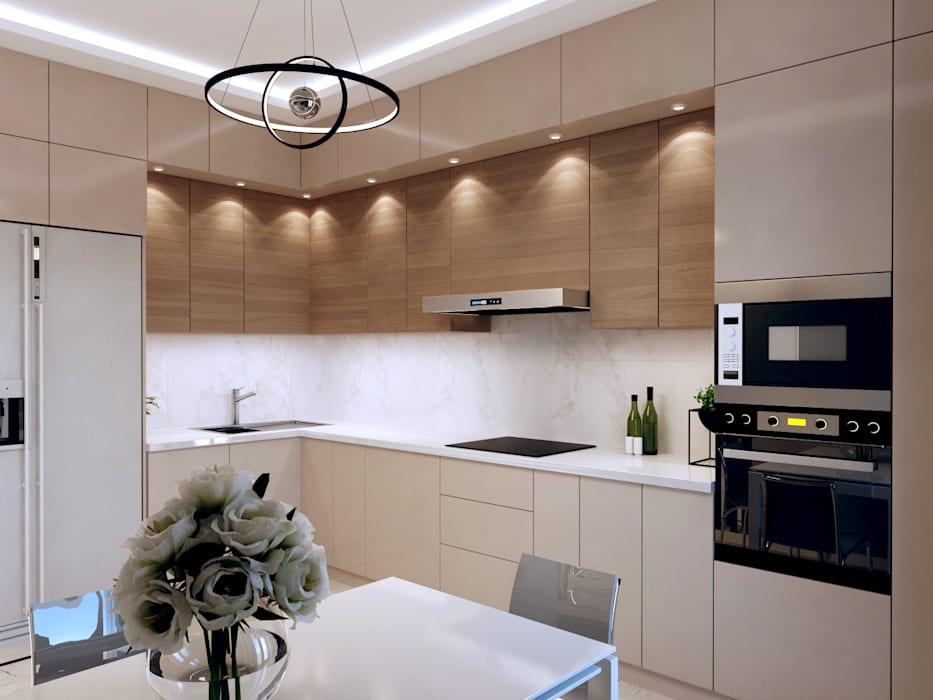 Built-in kitchens by Творческая мастерская Твердый Знак,