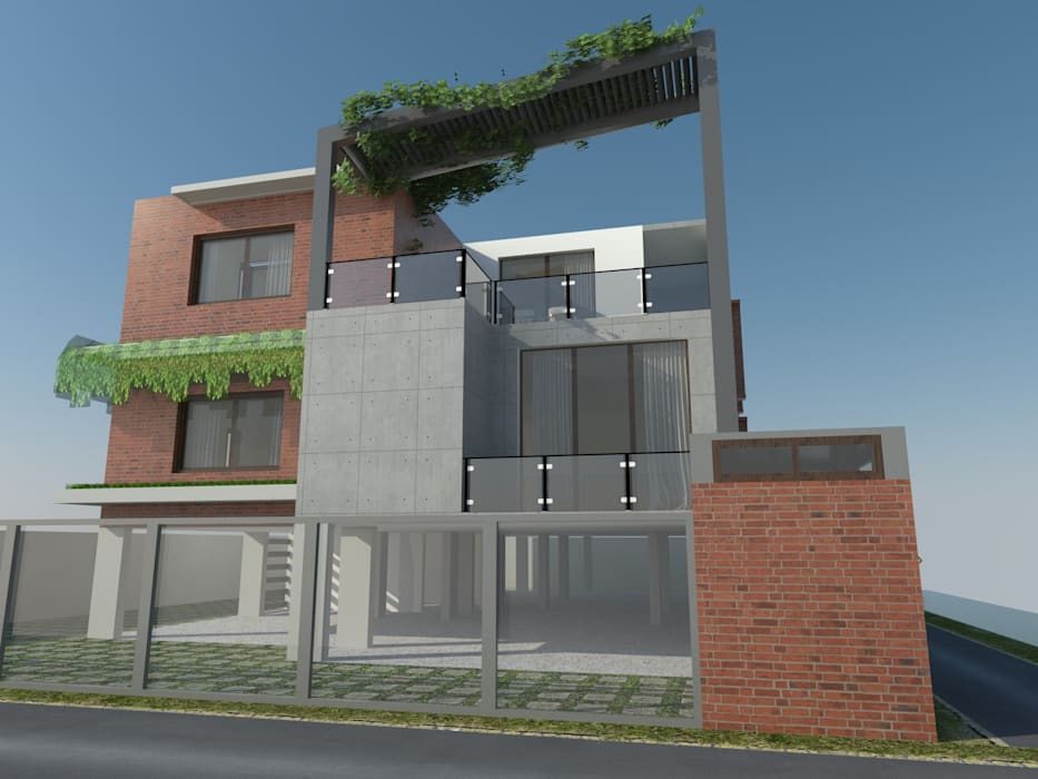 Mr.Madhu Maddi residence Asian style houses by The Yellow Ink Studio Asian