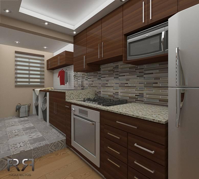 Petites cuisines de style  par FR arquitectos
