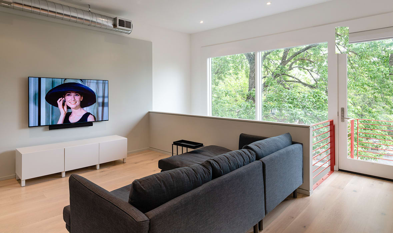 Black White Light Modern Living Room by KUBE Architecture Modern