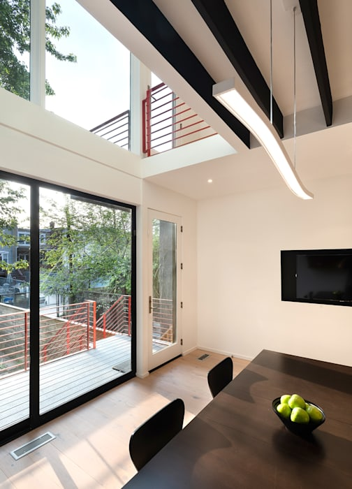 Black White Light Modern Windows and Doors by KUBE Architecture Modern