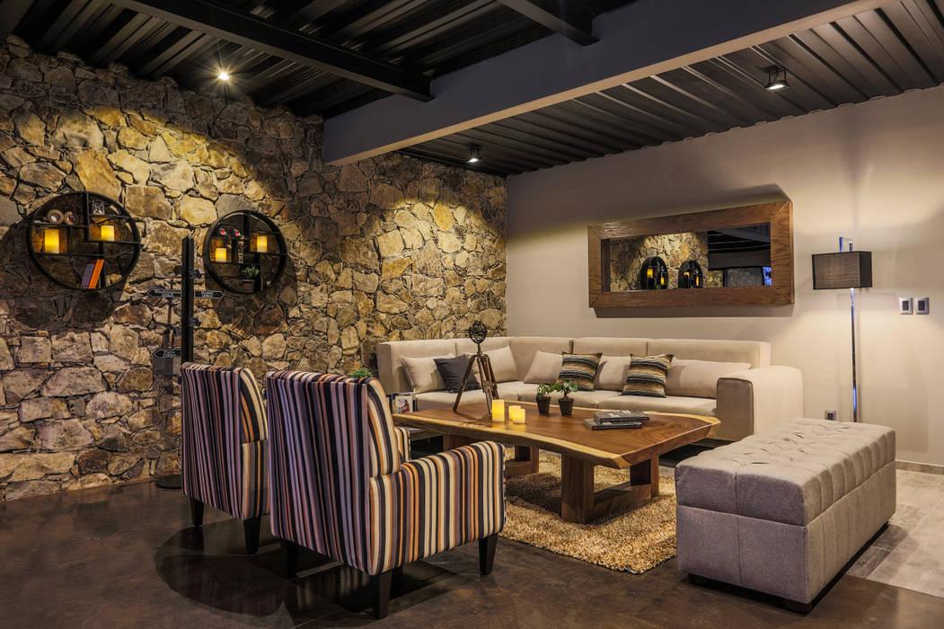 Living room by Con Contenedores S.A. de C.V.,