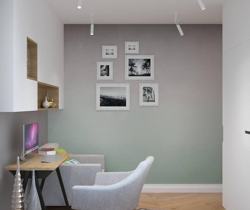 Długa: styl , w kategorii Pokój multimedialny zaprojektowany przez Patryk Kowalski Architektura i projektowanie wnętrz