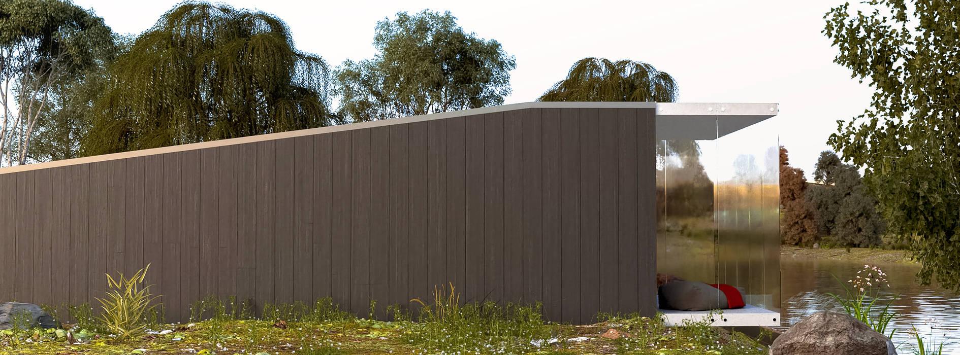 Rumah kayu oleh Rhombus arquitectos