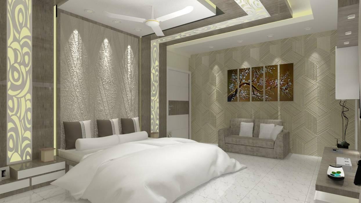 Master Bedroom:  Bedroom by Jamali interiors