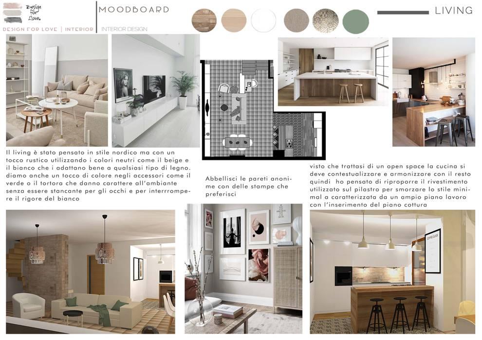 Living | cucina: Soggiorno in stile  di Design for Love, Scandinavo