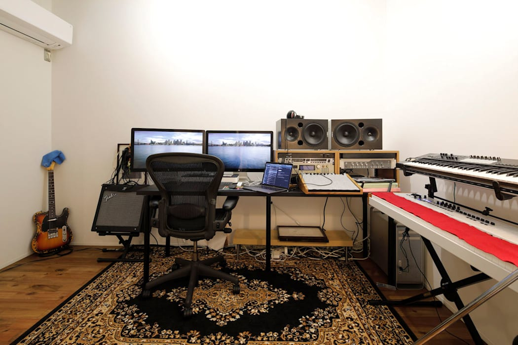キューブBOXハウス(趣味室) モダンデザインの 書斎 の 一級建築士事務所 感共ラボの森 モダン