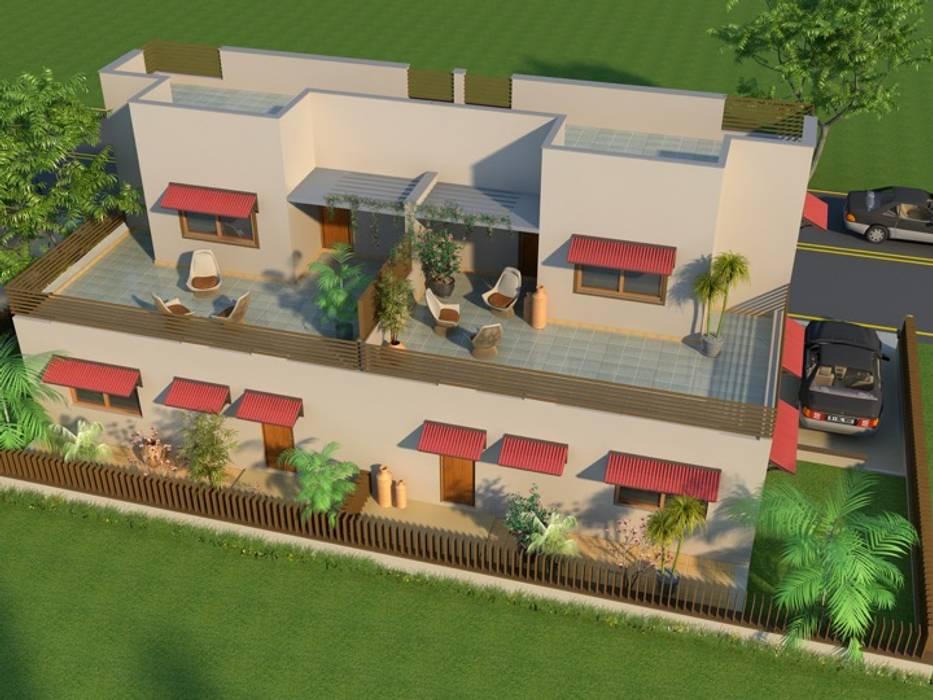 منزل عائلي كبير تنفيذ Aavran- Architects & Interior Designers, بلدي الطوب