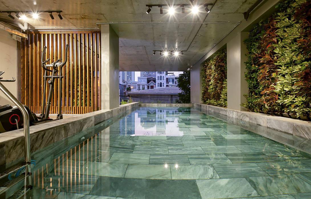 Căn hộ cho thuê _ Tropical house:  Nhà by công ty cổ phần kiến trúc - nội thât L & W, Nhiệt đới