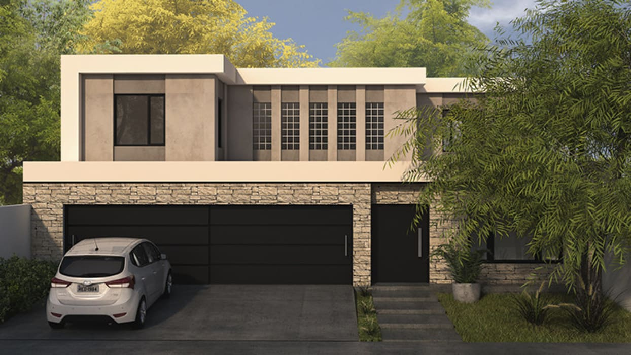 Single family home by MOD | Arquitectura, Modern Stone
