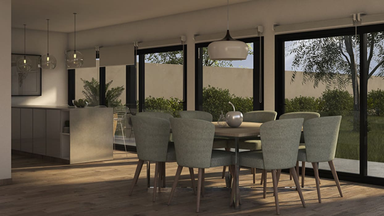 Dining room by MOD | Arquitectura, Scandinavian Wood Wood effect